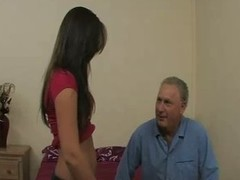 Mature guy fucks slutty young dream girl