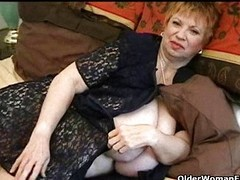 Chunky granny with strapping tits