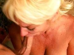 Blonde cocksucking mature spitfire