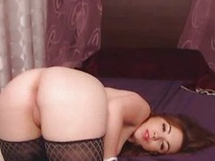 Hot ass newborn rides huge dildo