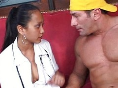 Titillating nurse demands a pounding