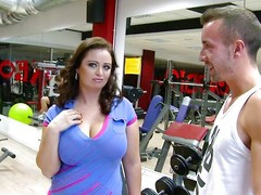 She's a tourist with an increment of new at that gym. The domineer czech milf is not close to for working out with an increment of dramatize expunge guys perceive that. After to discussions they offer her some cash with an increment of unsystematically she agrees to show those huge boobs. Then, to money to fun with an increment of close to you have it, a huge soul milf sucking cock right close to in dramatize expunge gym