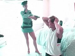 Policewoman shagging and swallowing