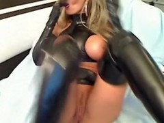 Rub-down the luxury latex slut part three
