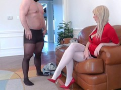 Mastix Alexis enormous golden-haired Female-Dominator punishes