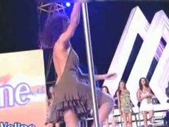 Upskirt vid of a really fit skinny pole dancer in a murky glad rags increased by dark panties. She has crumbly murky hair increased by her back is bare. She has sexy boobs a tight wan ass increased by yearn smooth legs. Another beautiful dancer has silky baleful panties.
