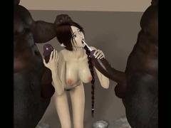 3D Kobold Girls Banged by Demons!
