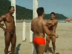 Hot Gay Interracial Threesome