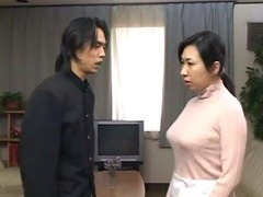 japanese mother get d by son coupled with cums inner her