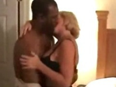 Horny housewife loves to enjoyment from fat black load of shit