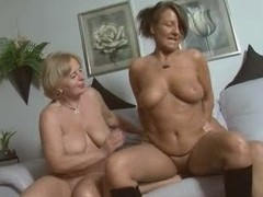 Two Doyenne German Gal Gets Pounded on Couch