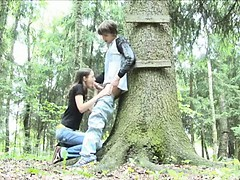 Adventure blowjob in dramatize expunge forest