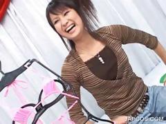 Japanese showing chap-fallen body in lingerie