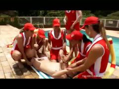 Ghetto-blaster Baywatch Babes Gang-bang Lucky Ladies'