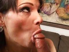 Chubby Exasperation Brunette Fucked Enduring And Got A Facial