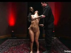 Hanged pamper wits see red gets gagged