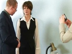 Nude vocation interview for young secretary