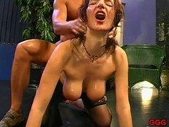 Savoring loads of sated white seeds delight cast off hotties