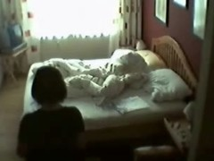 My mum in her bedroom masturbating. Hidden cam