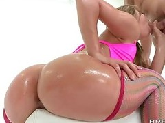 Kristina Rose with wet big booty gets analyzed