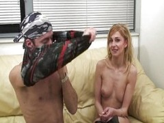 Fantastic blond French girl taking the cock