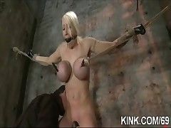 Busty enticing hot unspecified gets punished fucked everywhere bondage