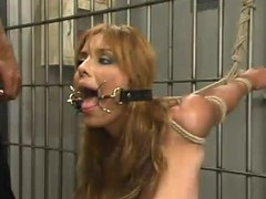 Lorena Sanchez gets the brush holes destroyed in a withstand a grip in BDSM instalment