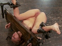 Device bondage, ass spanking and pussy bowels of the earth on all sides of for Katie