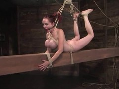 Mz Berlin the bound redhead old bag gets will not hear of bosom tortured