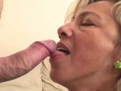 Hot mother-in-law enjoys load of shit riding