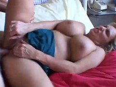 Heavy blonde mature fucked hard