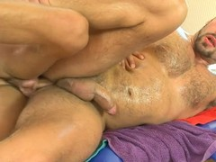 Choking dude gets a lusty anal spooning outlander masseur