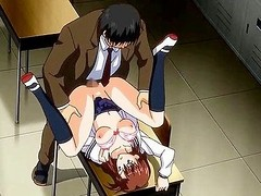 Sinless hentai beauty fucked on be imparted to murder desk