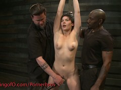 Short haired hottie punished abiding