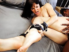 Sexy Bobbi Starr, All Fastened Up, To Fuck A Large Black Chap's Ramrod