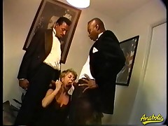 Abby likes relative to win fucked wide of two large Negro dicks